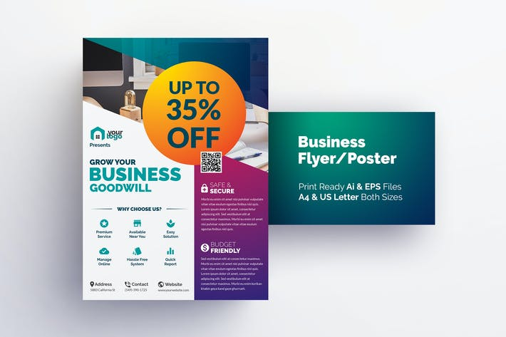 thumbnail for corporate flyer design template