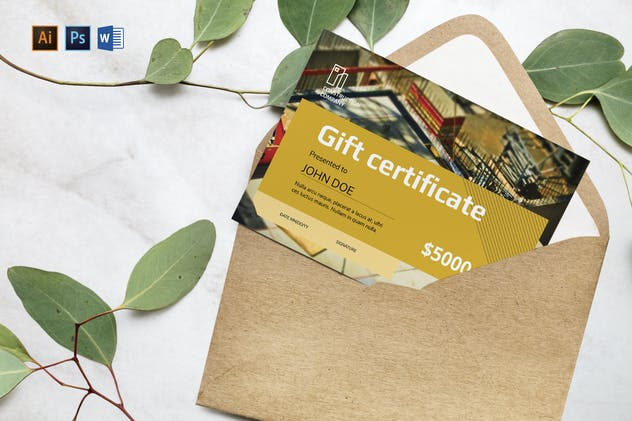 Construction Company Gift Certificate - product preview 0