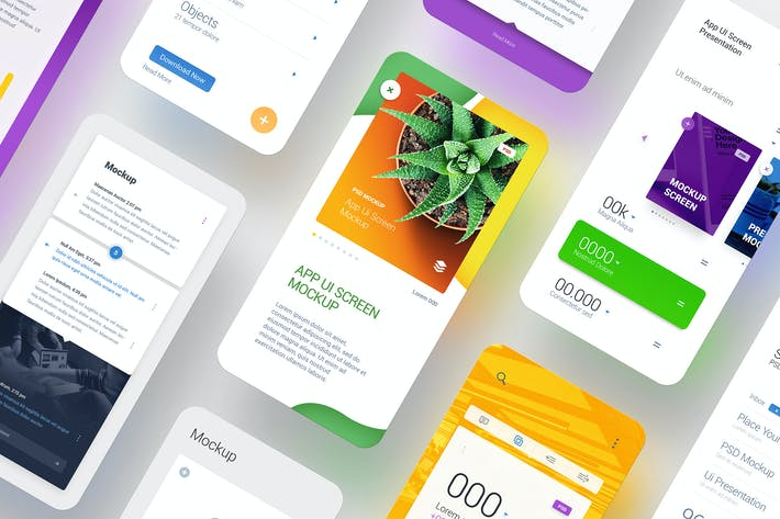Thumbnail for APP UI Screen Smartphone Presentation Mockup