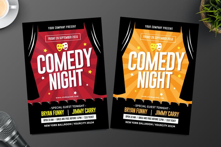 Thumbnail for Night Comedy Flyer