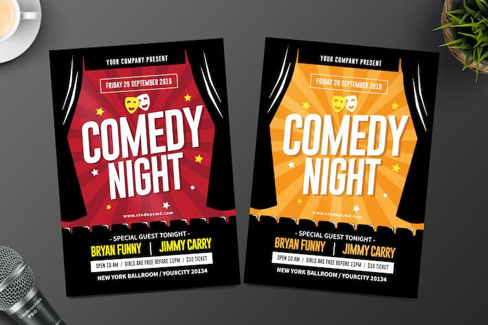 Night Comedy Flyer by tokosatsu on Envato Elements