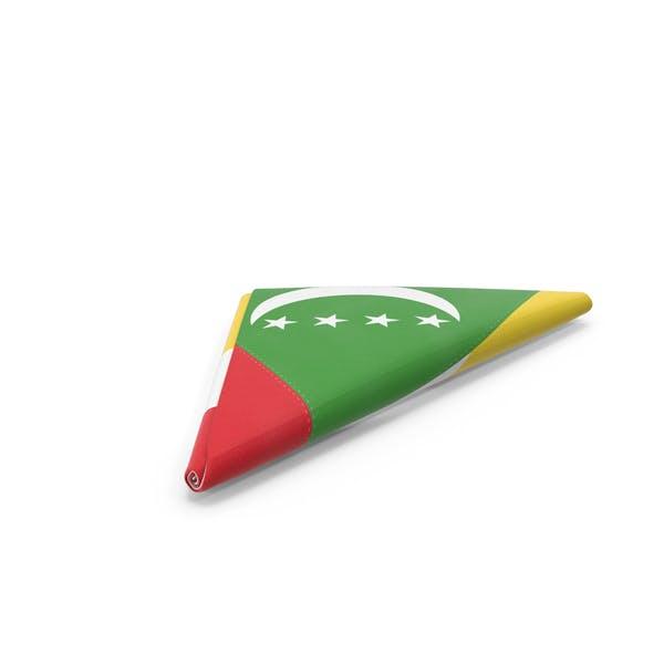 Flag Folded Triangle Comoros
