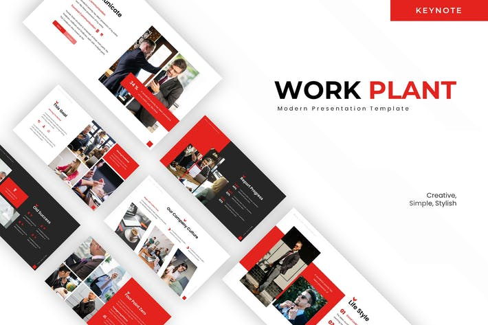 Thumbnail for Work Plant - Keynote Template