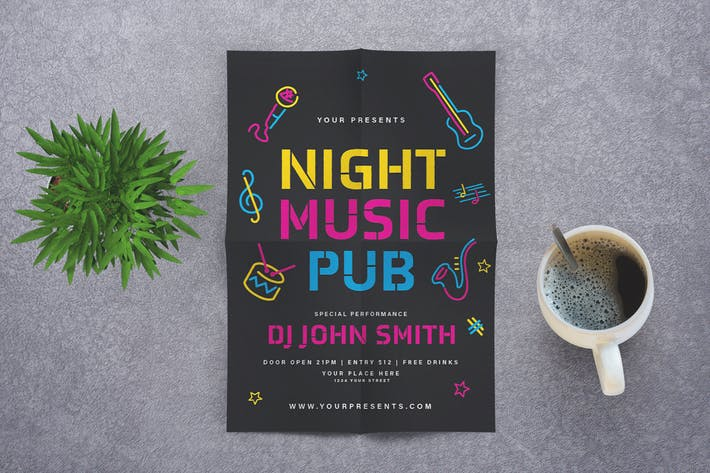Music Night Pub dépliant