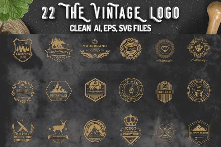 Thumbnail for 22 Vintage Logos