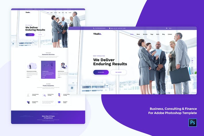 Thumbnail for Business & Finance for Adobe Photoshop template
