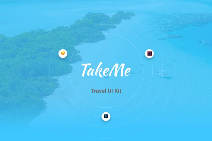 Thumbnail for Take Me UI Kit