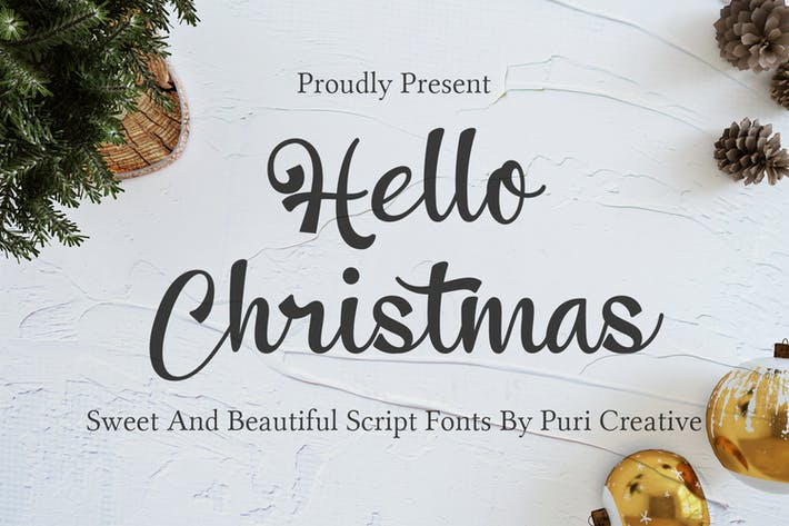 Thumbnail for Bonjour Noël - Doux & Beautiful Script Police