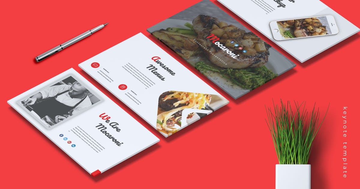 Download MOCARONI - Restaurant & Food Keynote Template by RahardiCreative