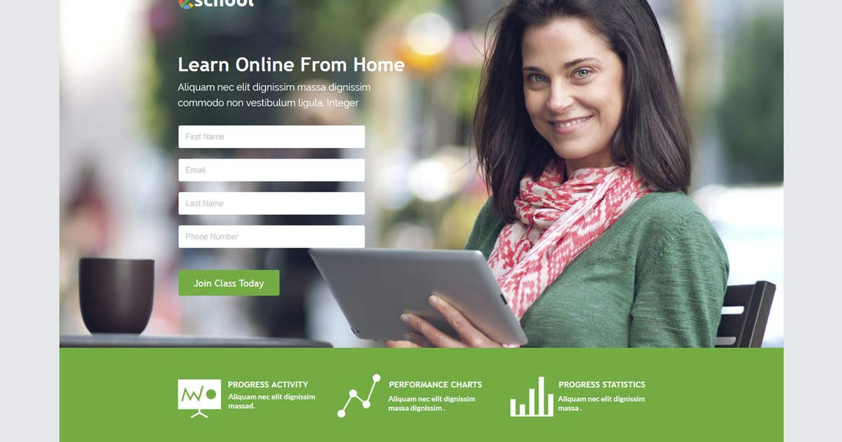 Download eSchool Unbounce Template by xvelopers