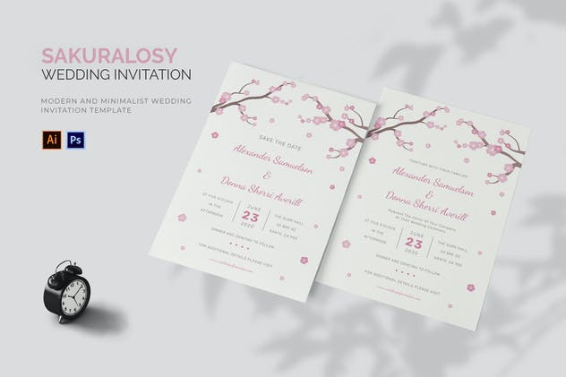 Sakuralosy - Wedding Invitation
