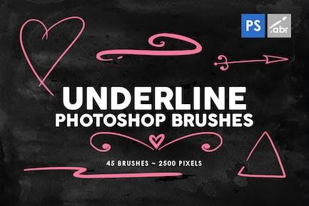 45 Underline Photoshop Stamp Brushes Vol. 2