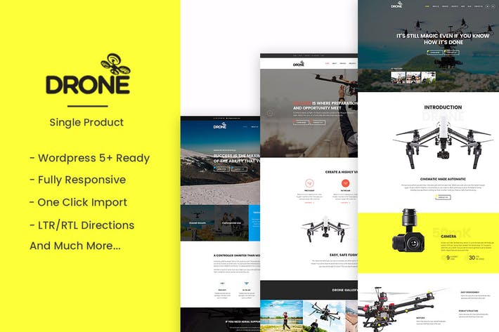 Thumbnail for Drone - Single Product WordPress Theme