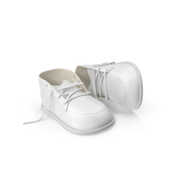 Weiße Babyschuhe