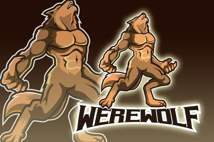 Thumbnail for Angry Werewolf Esport Logo