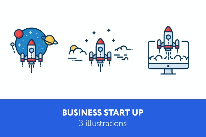 Thumbnail for Business start up illustrations