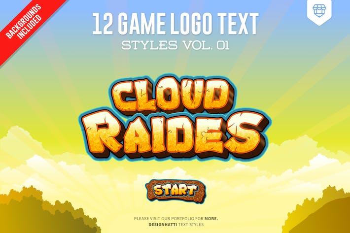 Thumbnail for Стили текста Логотип игры