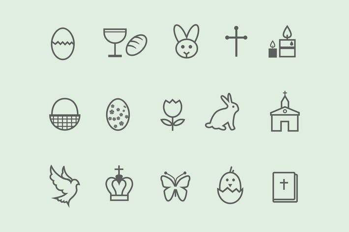 Thumbnail for 12 Easter Icons