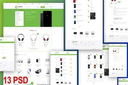 Voltaire - e-commerce and business PSD template