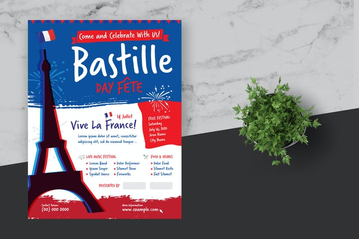Cover Image For Bastille Day Flyer Poster