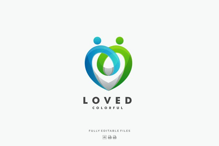 Thumbnail for Abstract Love Colorful Logo
