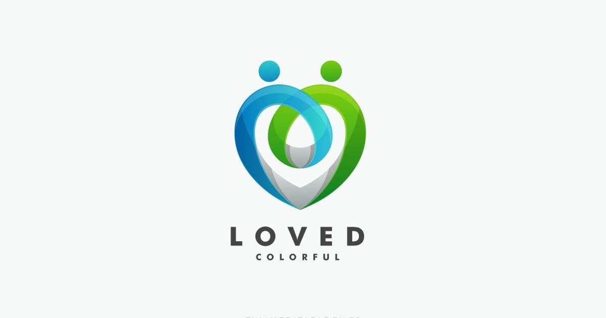 Download Abstract Love Colorful Logo by ivan_artnivora