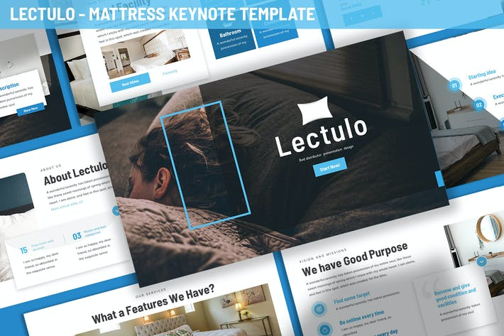 Thumbnail for Lectulo - Mattress Keynote Template