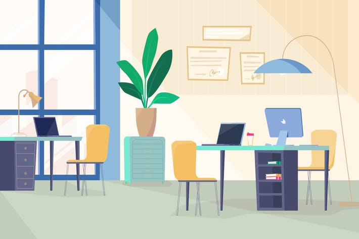 Thumbnail for Programmierraum - Illustration Hintergrund