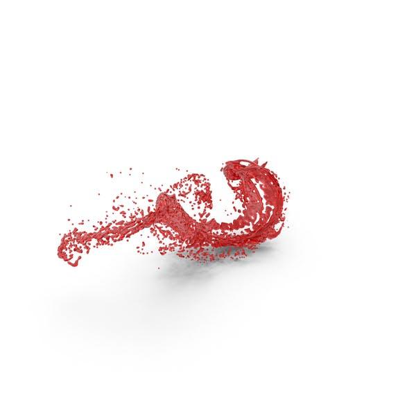 Thumbnail for Red Liquid Splash Effect