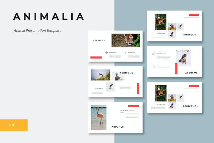 Thumbnail for Animalia - Animal Google Slides Template