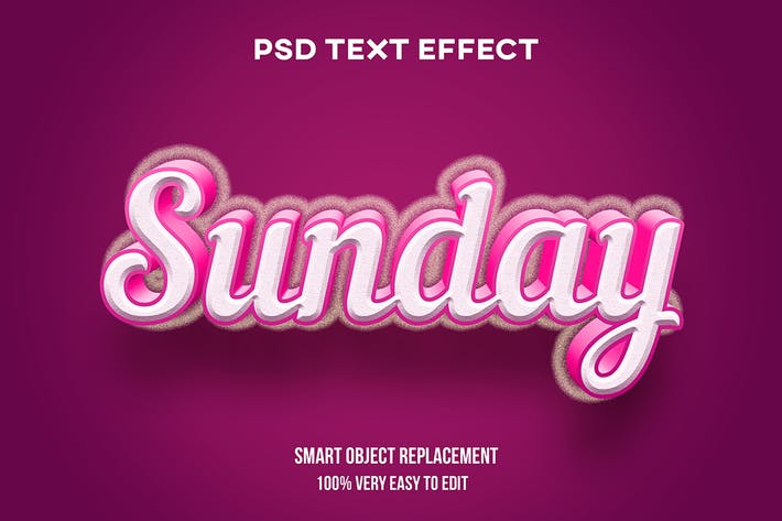 Sunday red text effect