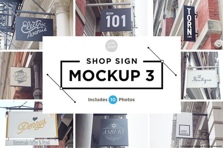Cover Image For Shop Sign Mockup 3