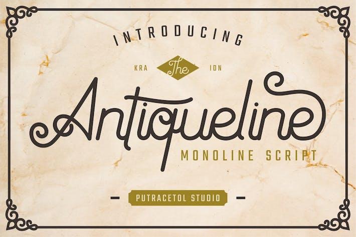 Antiqueline - Unique Monoline Font