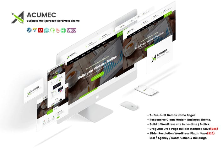 Thumbnail for Acumec - Business Multipurpose WordPress Theme