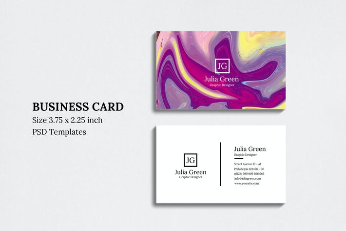 Thumbnail for Abstract Business Card Vol 09
