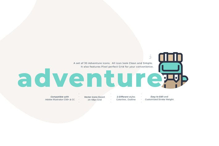 Thumbnail for 30 Adventure Icon Set