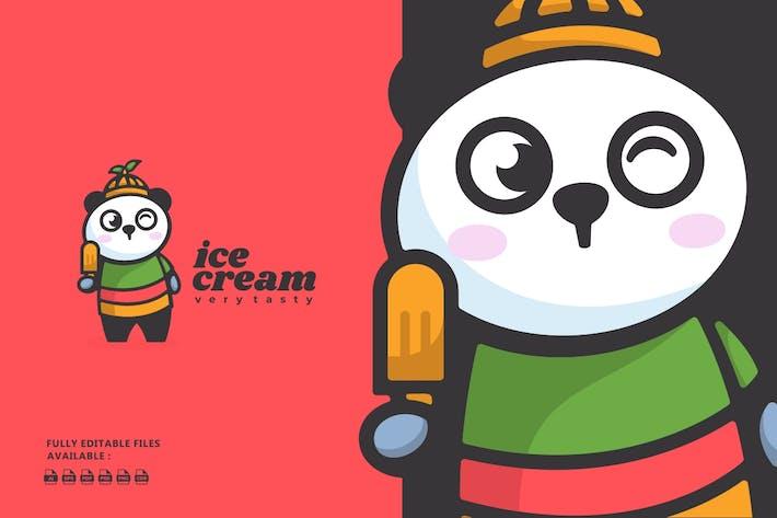 Thumbnail for Cute Panda Cartoon Logo