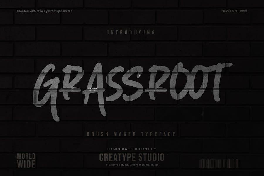 Grassroot Brush Maker Business Font