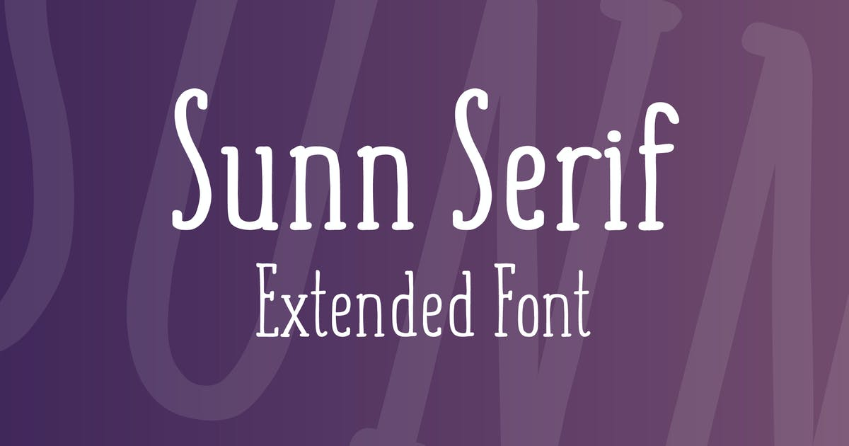 Download SUNN Serif Extended Font by WildOnes