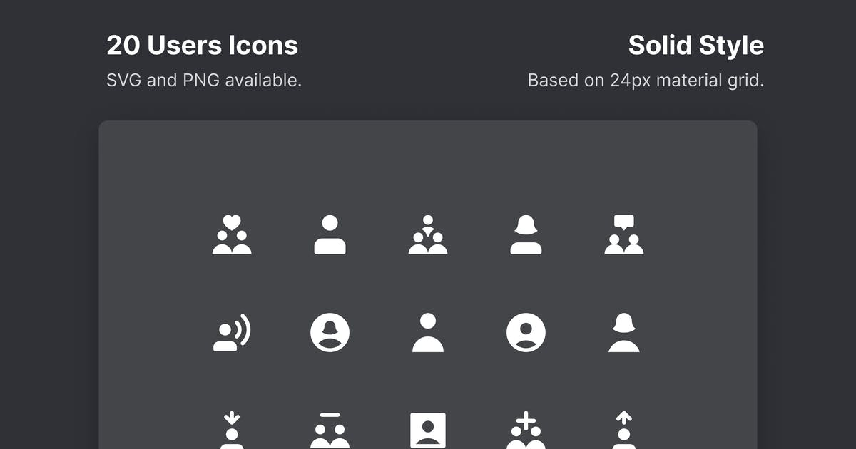 Download Users Icons - Solid Style by roywj