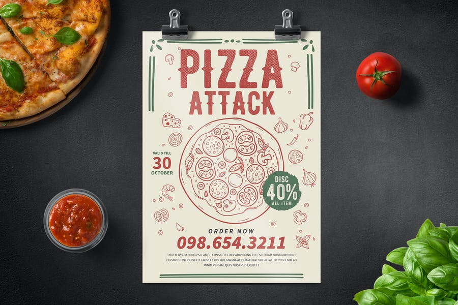Pizza Party Flyer - product preview 0