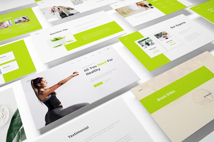Supplements Powerpoint Template