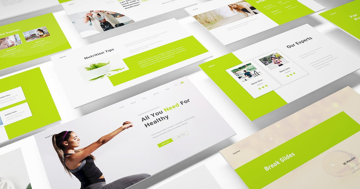 Download Supplements Powerpoint Template by Formatika