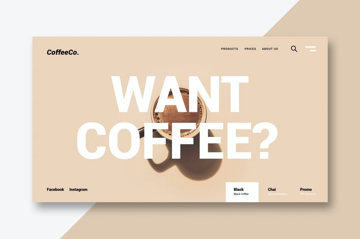 Thumbnail for Coffee & Drinks - Landing Page