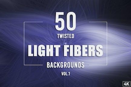 50 Twisted Light Fibers Backgrounds - Vol. 1