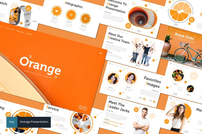 Thumbnail for Orange - Keynote Template