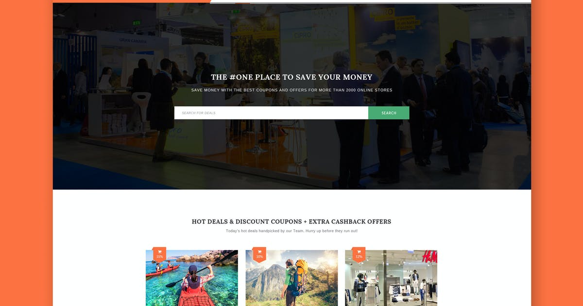 Download Geodeo - Coupon & Deals HTML Template by ThemeWisdom