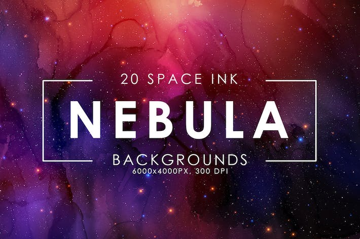 Cover Image For Nebula Ink Backgrounds