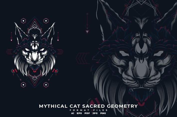 Thumbnail for Mythical Cat Sacerd Geometry