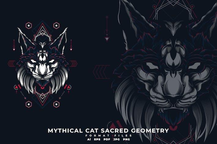 Thumbnail for Mythische Katze Sacerd Geometrie